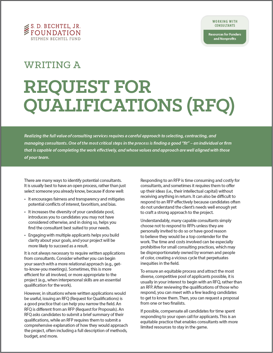 Guide to Writing RFQs